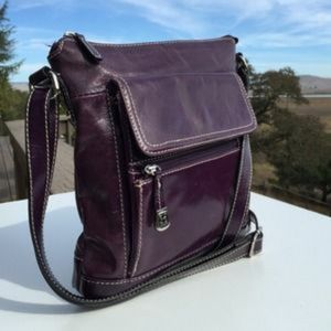 Giani Bernini  leather 💜 crossbody purple purse